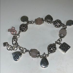 Brighton Breast Cancer Awareness Charm Bracelet
